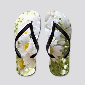 Bouquet of daisies in LOVE Flip Flops